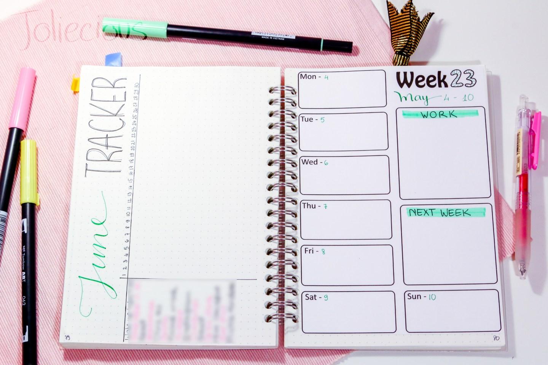 june 2018 bullet journal setup plan with me
