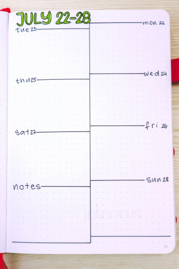 Bullet Journal Weekly Layouts