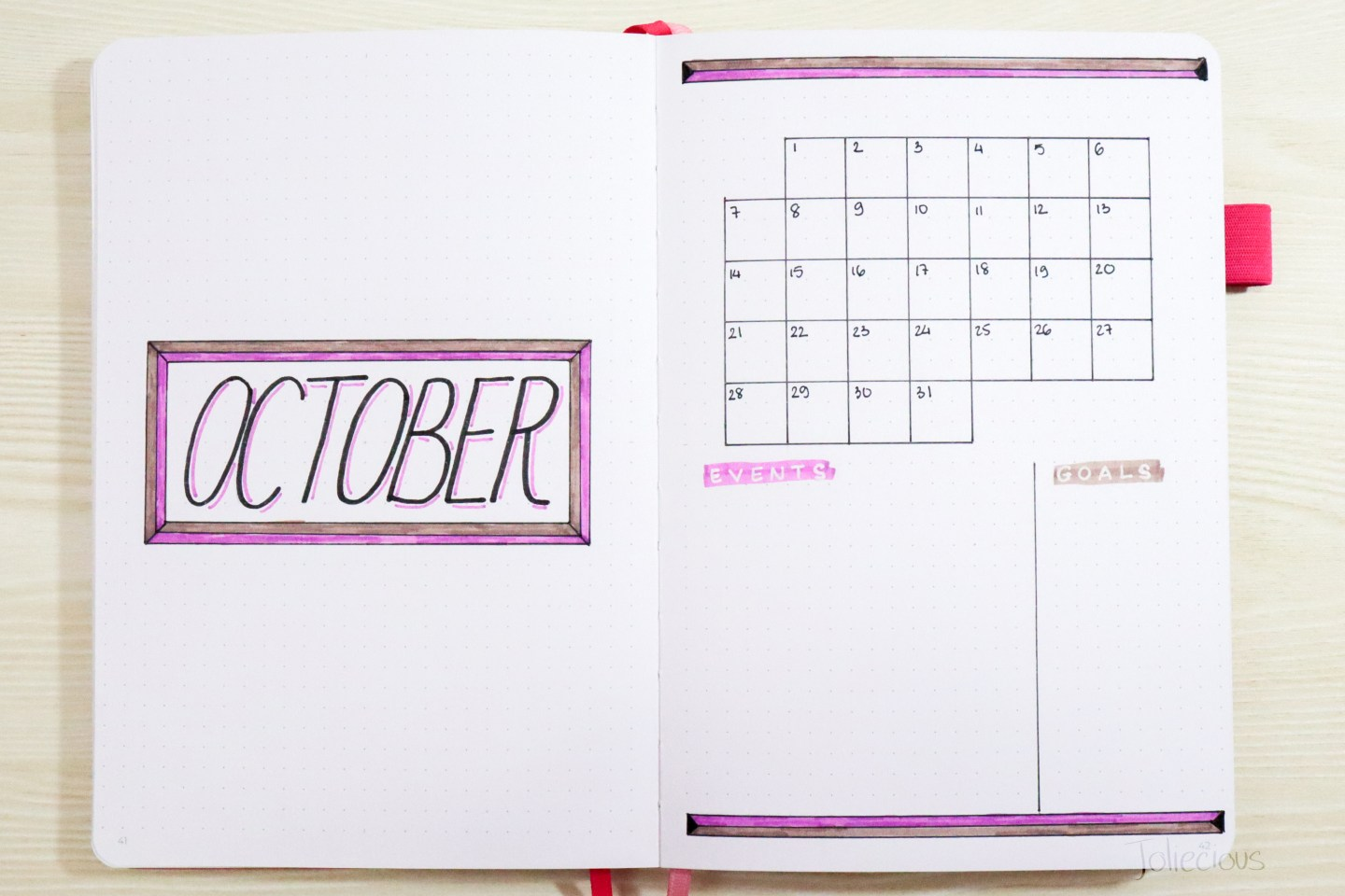 October Bullet Journal Setup