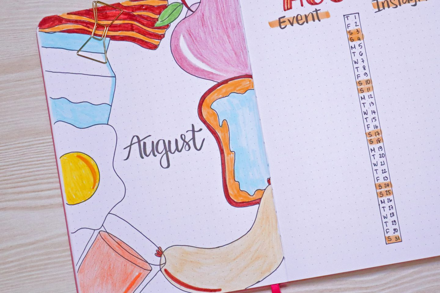 August Bullet Journal Theme & Cover Page Ideas (Free Printables Included)