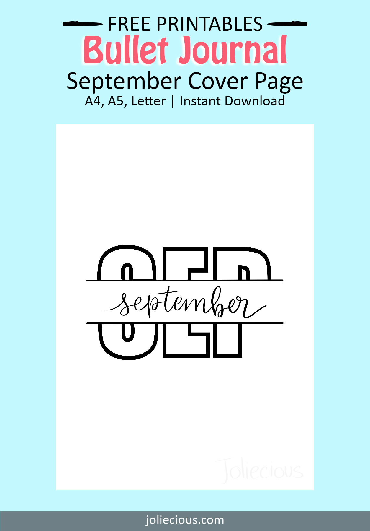 september bullet journal theme idea