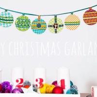 DIY christbaumkugel weihnachtsgirlande