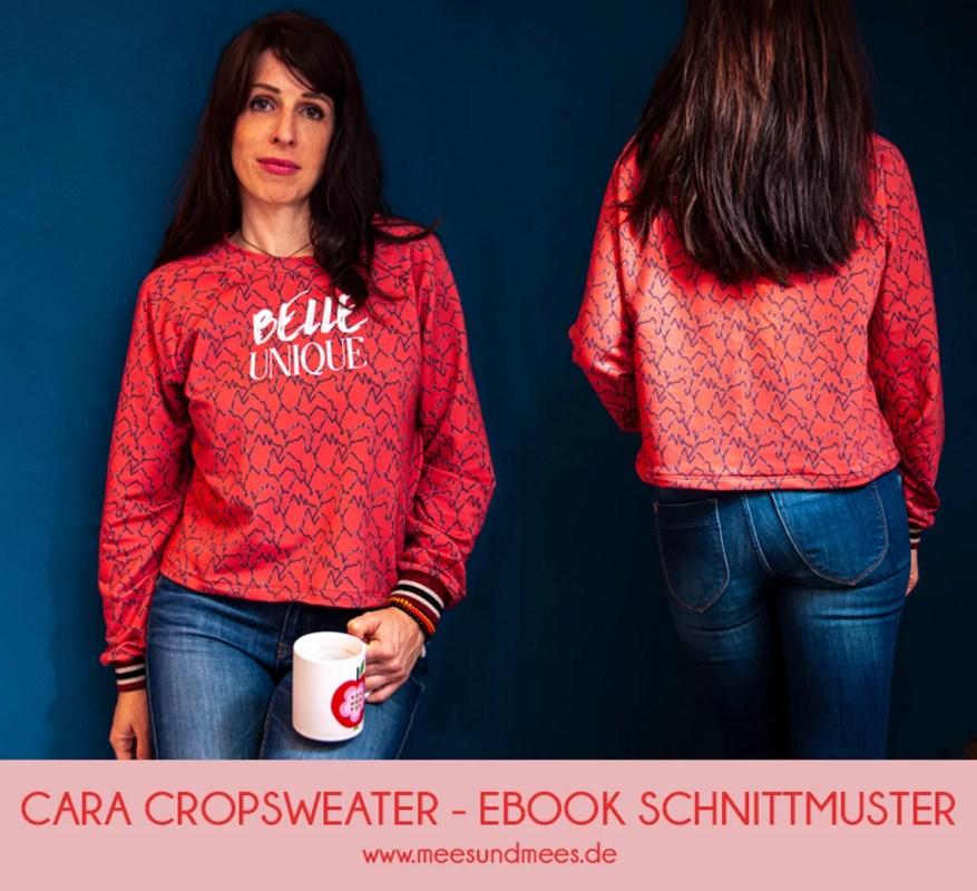 ebook schnittmuster damen teens cara crop sweater