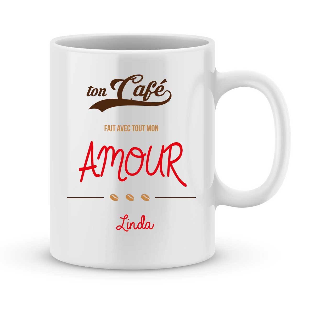 mug personnalise avec un prenom avec tout mon amour