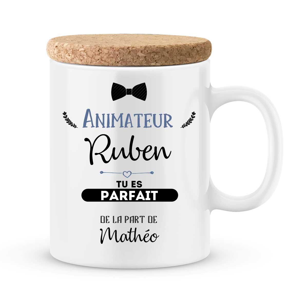 cadeau animateur mug personnalise tu es parfait avec prenom