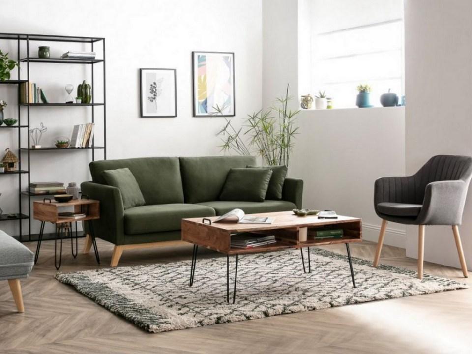 Salon avec canapé kaki : 10 déco à copier - Joli Place