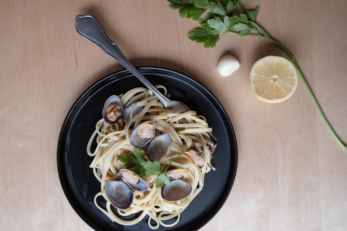 Recette : spaghettis aux palourdes (linguine alle vongole)