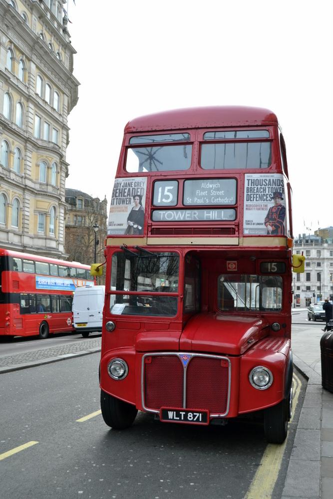 Vieux bus Londres