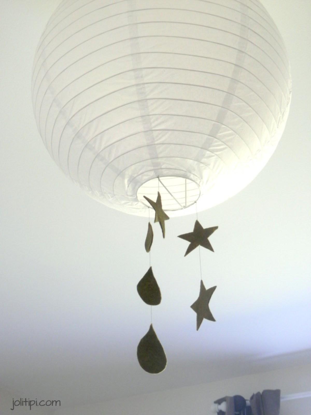 chambre bébé garçon suspension boule customisée