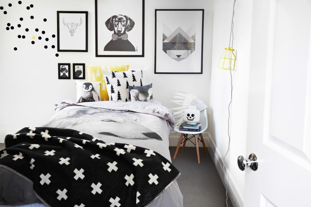 Superieur Chambre Enfant Noir Blanc Jaune
