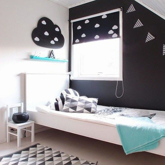 noir et blanc sinvitent dans la chambre denfant joli tipi