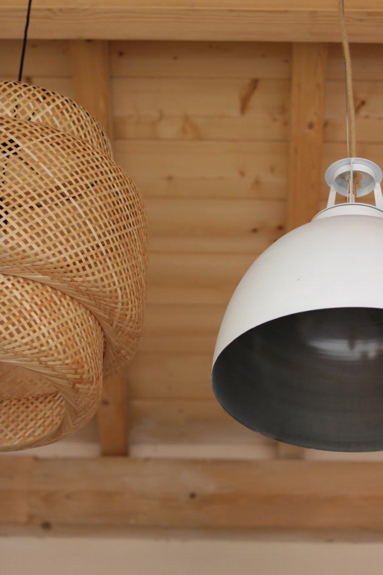 Suspensions lumineuse cloche et bambou