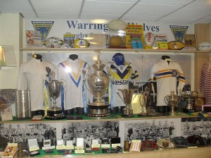 Trophies and Cups of The Wolves Rugby League Club in Warrington