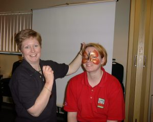 Face Painting demonstration by Hazel Wood of Jolly Good Productions