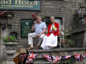Peter Armitage ( Bill Webster from Coronation Street ) and Katie Brown, Gala Queen