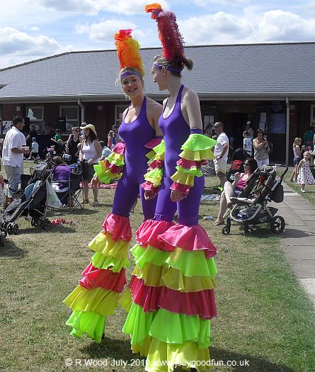 Stilt Walking at RAF Waddington