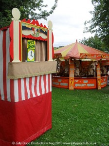 Punch and Judy at a seaside event in Barnsley