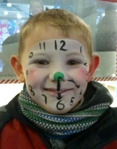 The boy who wanted to be a clock ( face painting )