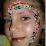 Flowers and Rainbow Faces | Face Painting by Hazel Wood