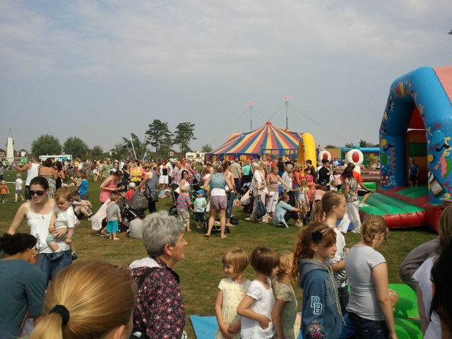 People enjoying the Play day event.