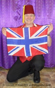 Magician With Union Jack Flag