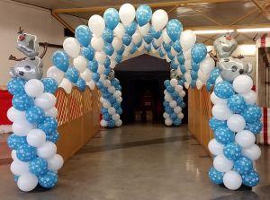 Frozen themed balloon display