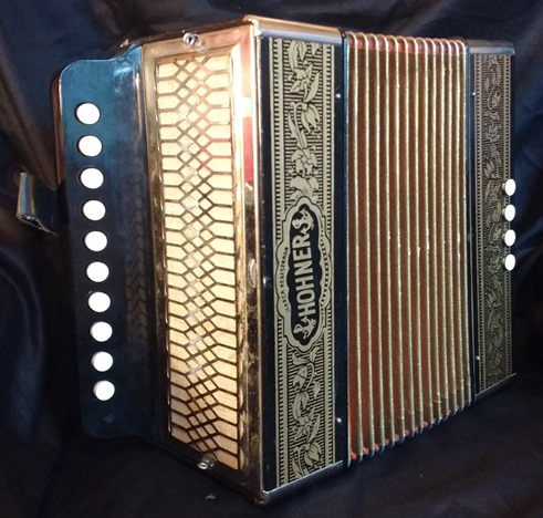 Hohner one-row melodeon/accordion