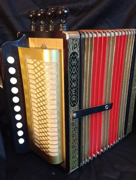 Hohner HA114C Cajun accordion/melodeon SOLD