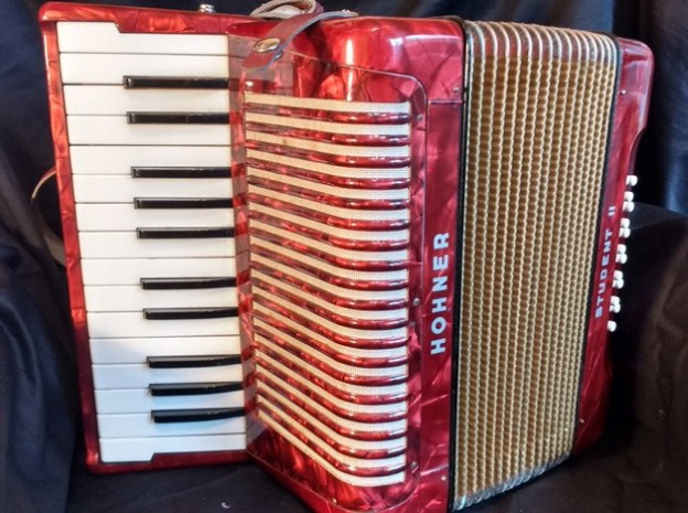 Hohner Student II piano accordion in RED