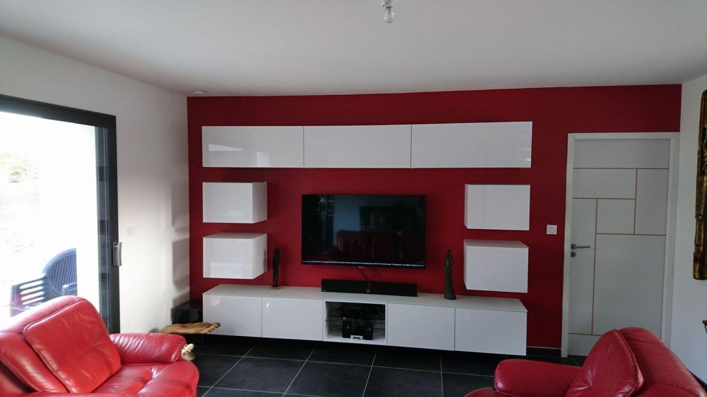 meuble tv hifi sur mesure joly agencement
