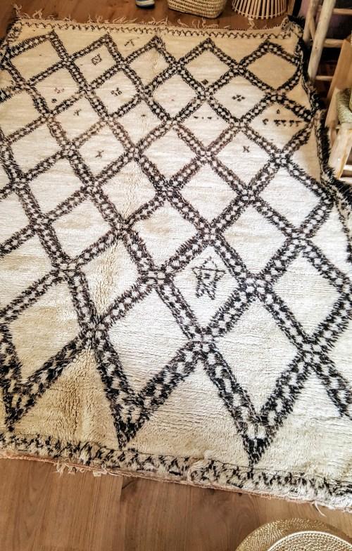 tapis Vintage d'exception Beni Ouarain