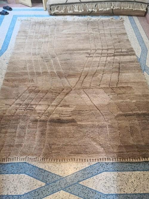 tapis mrirt marron glacé
