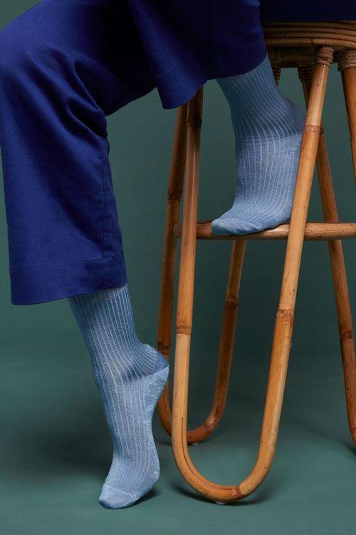 Chaussettes campania vert et bleu