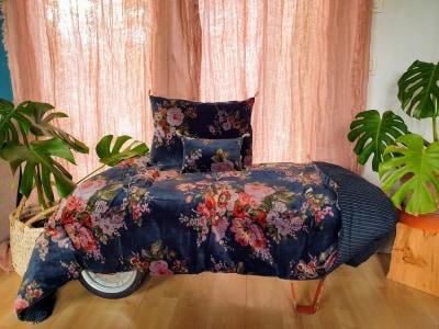 bout de lit velours et coton