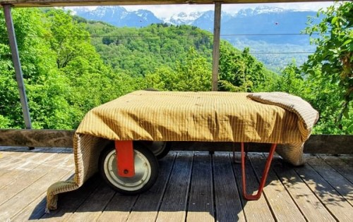 bout de lit en coton