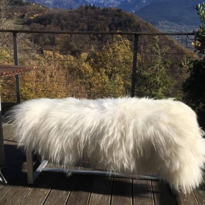tapis mouton blanc poils longs