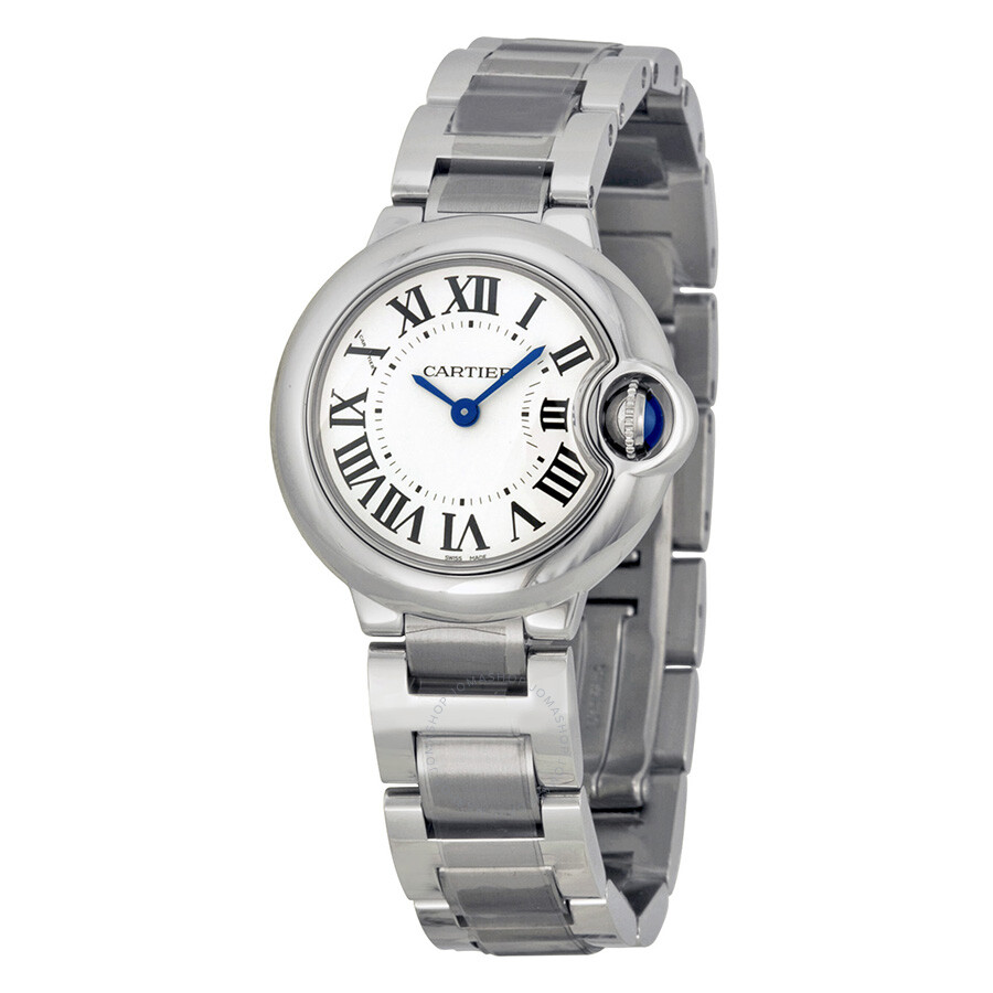 Cartier Ballon Bleu Silver Dial Stainless Steel Ladies Watch     Cartier Ballon Bleu Silver Dial Stainless Steel Ladies Watch W69010Z4