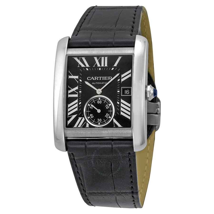 Cartier Tank MC Automatic Black Dial Black Leather Men s Watch     Cartier Tank MC Automatic Black Dial Black Leather Men s Watch W5330004