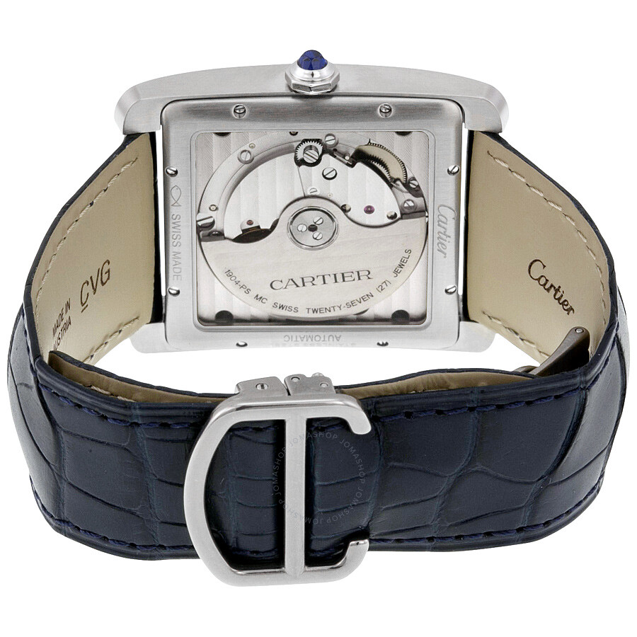 Cartier Tank MC Blue Dial Stainless Steel Men s Watch WSTA0010         Cartier Tank MC Blue Dial Stainless Steel Men s Watch WSTA0010