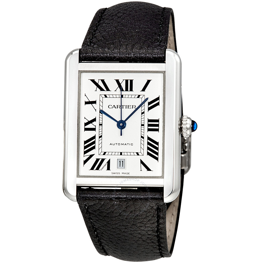 Cartier Tank Solo XL Automatic Silver Dial Men s Watch WSTA0029