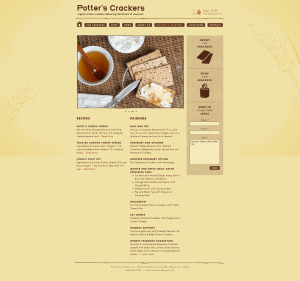 Recipes & Pairings Page