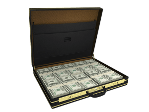 brief case full of money