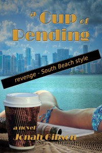 Miami Skyline, A Cup of Pending Book Cover, Pending Coffee
