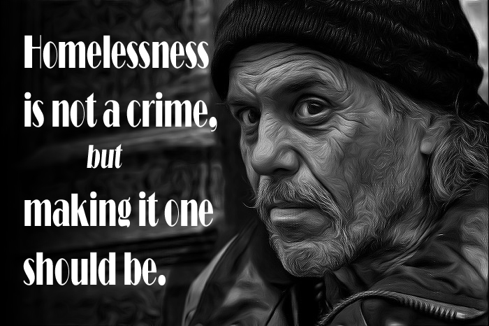 Homelessness is not a crime