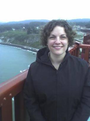 Another picture of Leah on the bridge over the Golden Gate