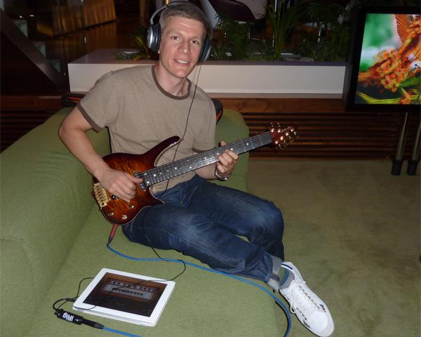 SB-1 Radius + iPad + iRig + GarageBand + headphones