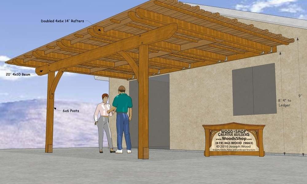 free patio cover blueprints layout