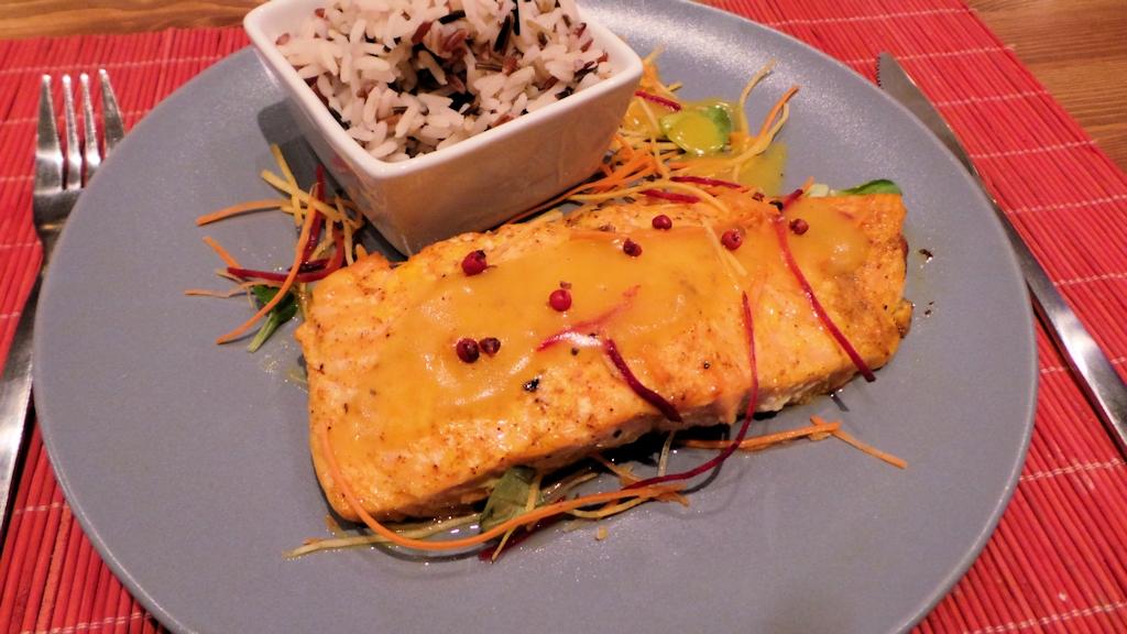 Pavé de saumon au beurre d'épices