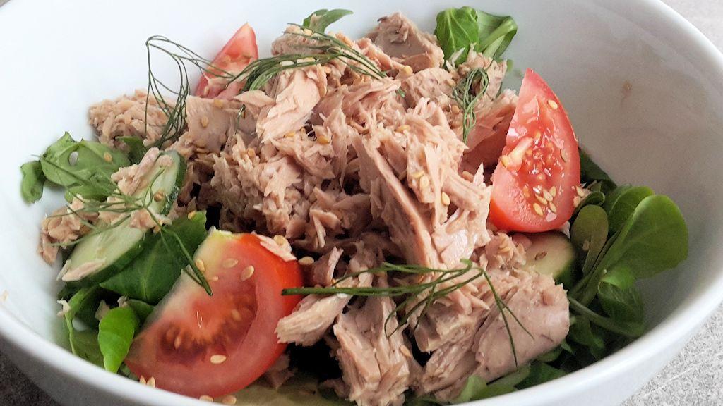 Salade de thon tomate et concombre