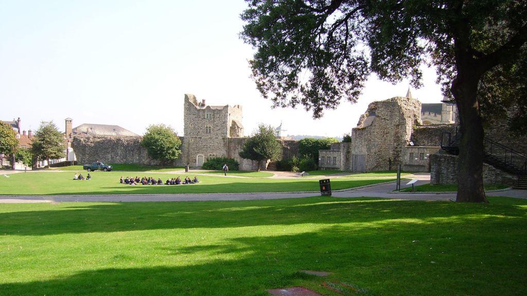 Les jardins du château de Rochester